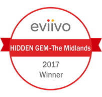 eviivo awards 2017 hidden gem - the midlands winner badge