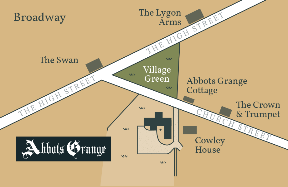 Map displaying Abbots Grange location