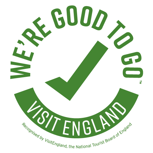 Good to Go England logo from VisitEngland, the National Tourist Board of England