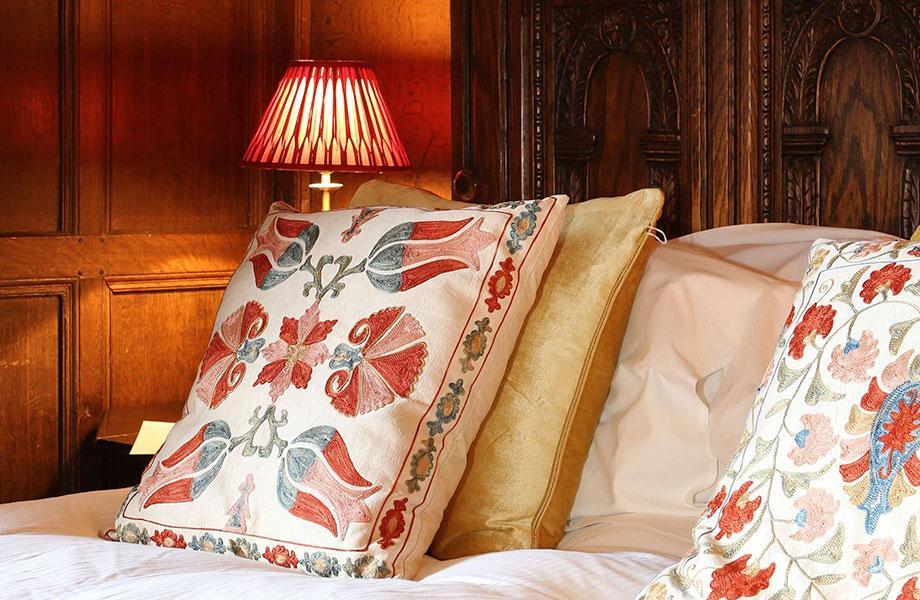 Elizabethan suite bed spread detail shot